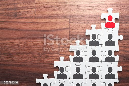 istock Career development and promotion concept. Going and standing on height. 1053764346