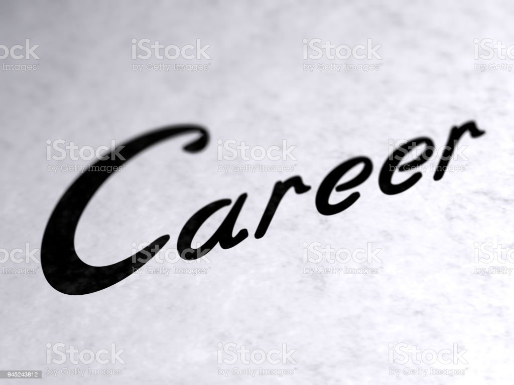'Career' on the page. stock photo