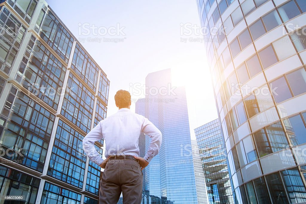 career or new opportunity concept, business background stock photo
