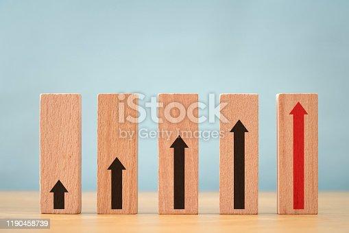 Anticipation, Arrow Symbol, Aspirations, Block Shape, Growth