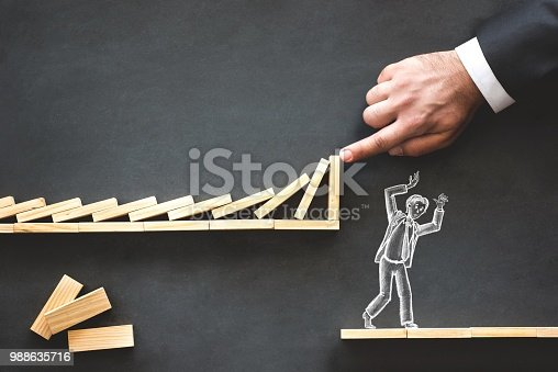 istock Career Planning and Business Challenge Concept with Hand Drawn Chalk Illustrations on Blackboard 988635716