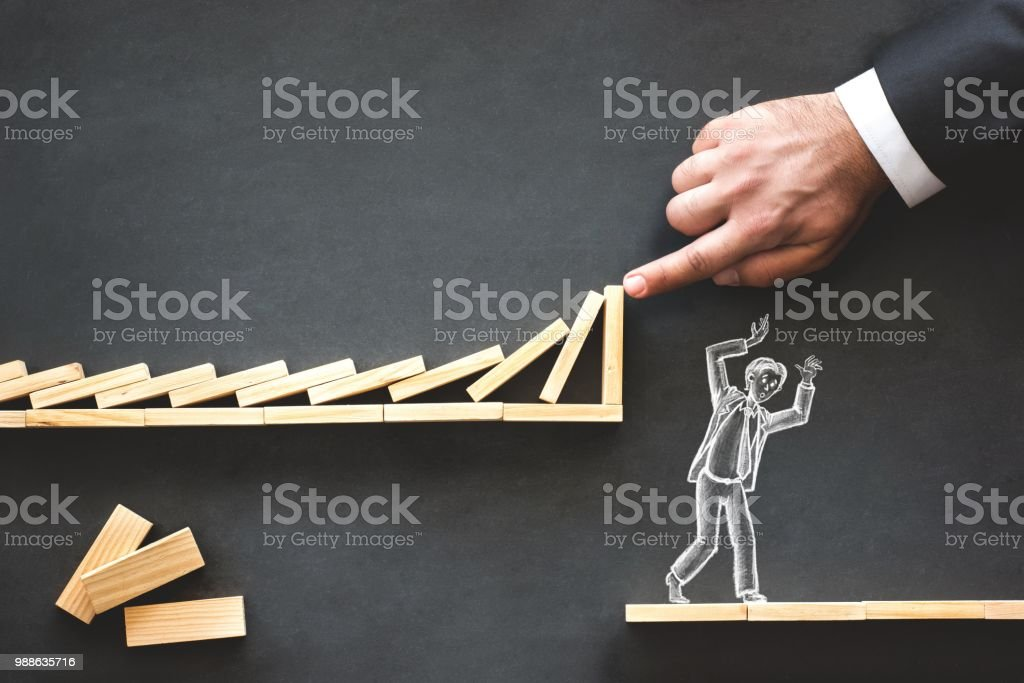 Karriereplanung und Herausforderung Geschäftskonzept mit handgezeichneten Kreide Abbildungen auf Tafel – Foto