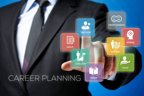 Career Planning Concept on Interface Touchscreen Career Planning Concept on Interface Touchscreen qualification round stock pictures, royalty-free photos & images