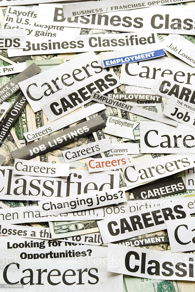Careers (job search) - V royalty-free stock photo