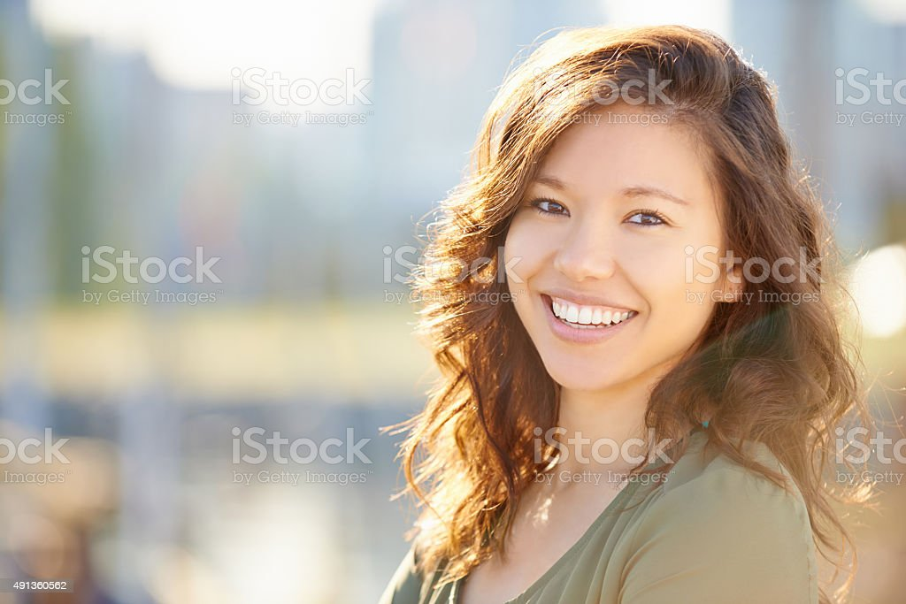 Carefree and confident stock photo