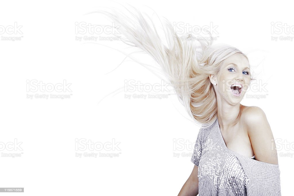 Carefree Beauty stock photo