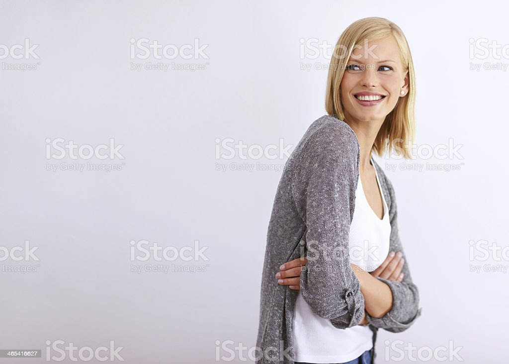 Carefree beauty stock photo