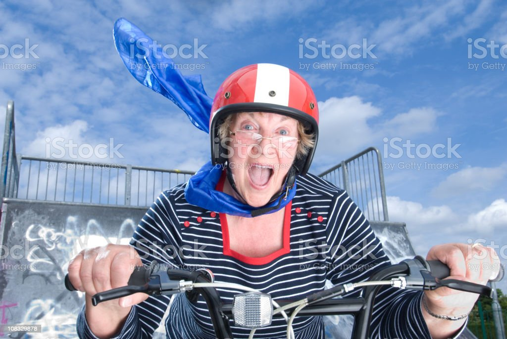 carefree grandma stock photo