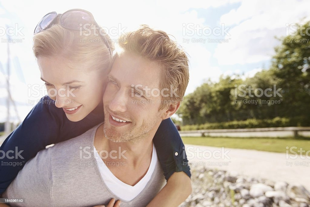 Carefree lovers royalty-free stock photo