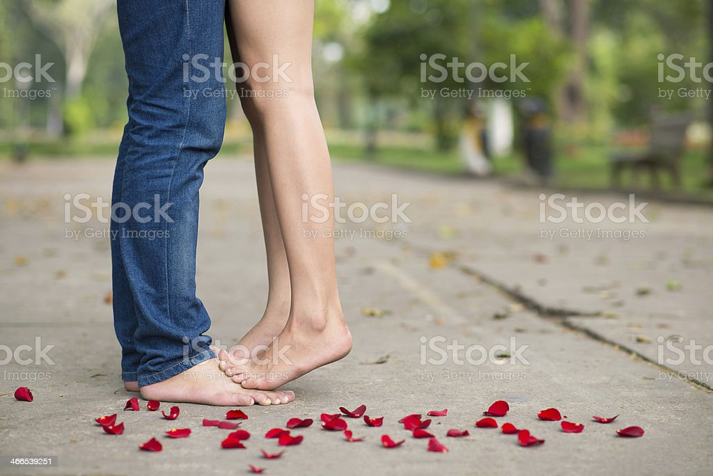 Carefree lovers stock photo