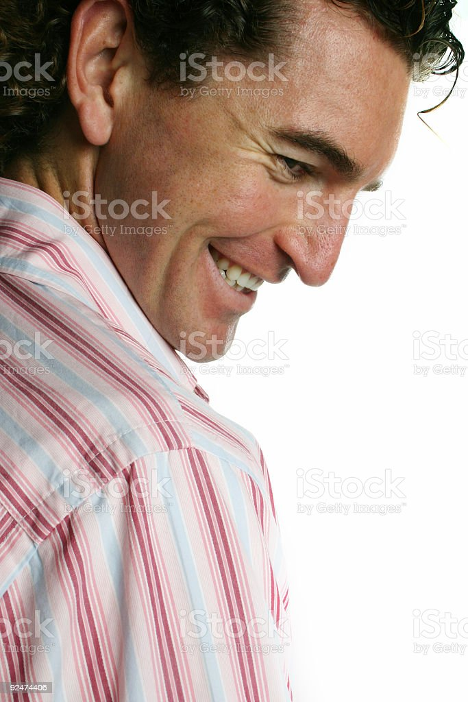 Carefree male smiling royalty-free stock photo