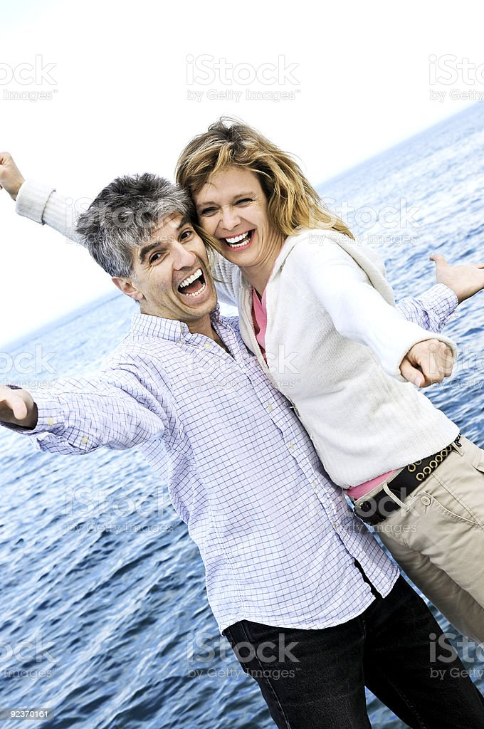 Carefree mature couple royalty-free stock photo
