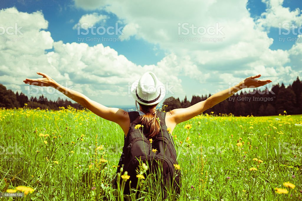Carefree stock photo