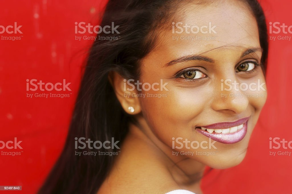 Carefree Red royalty-free stock photo