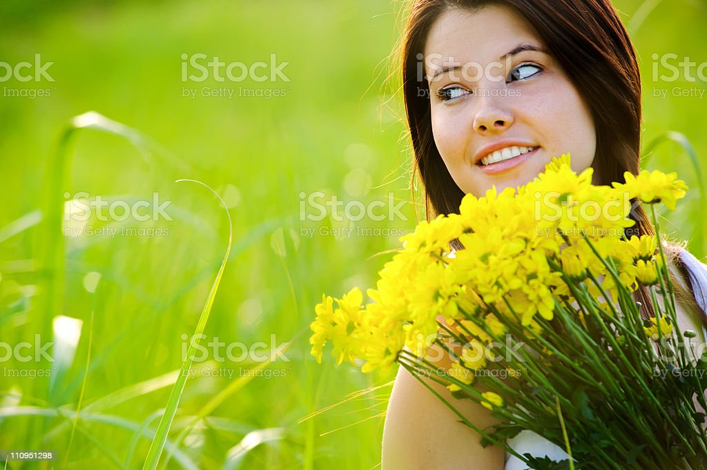carefree spring girl royalty-free stock photo