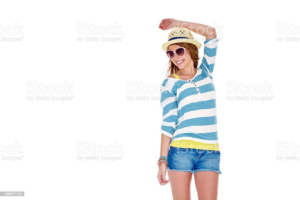 Carefree summer style royalty-free stock photo