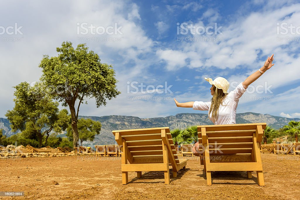 carefree woman royalty-free stock photo