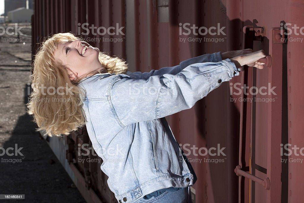 Carefree mujer foto de stock libre de derechos