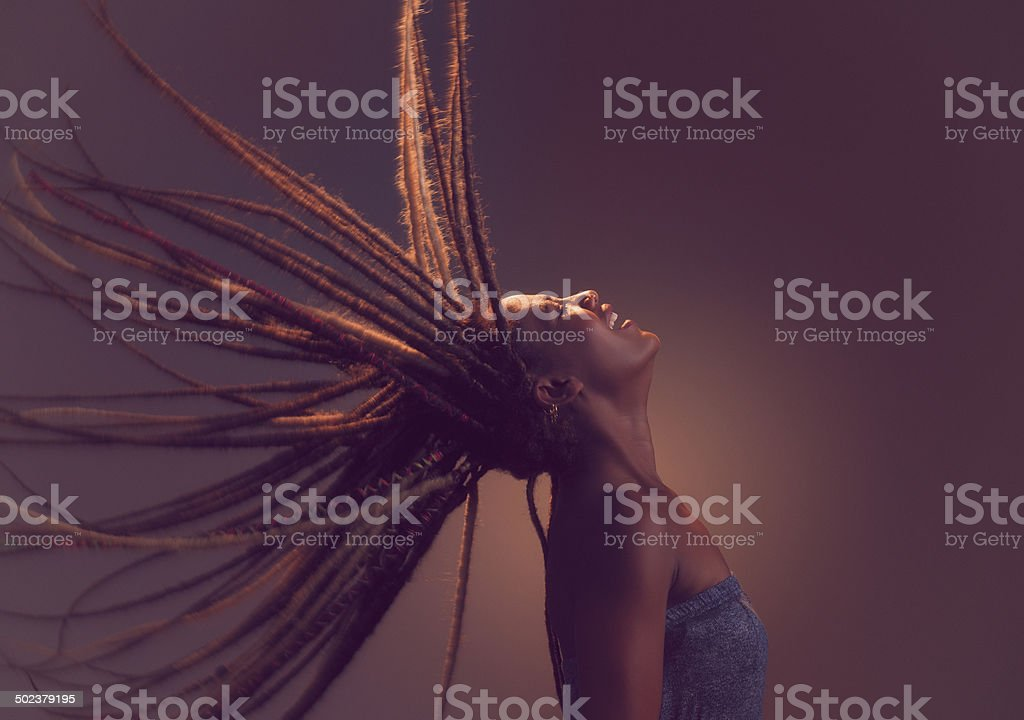 Carefree woman. stock photo
