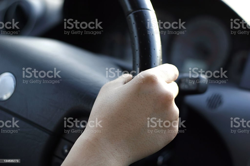 Careful Driver royalty-free stock photo