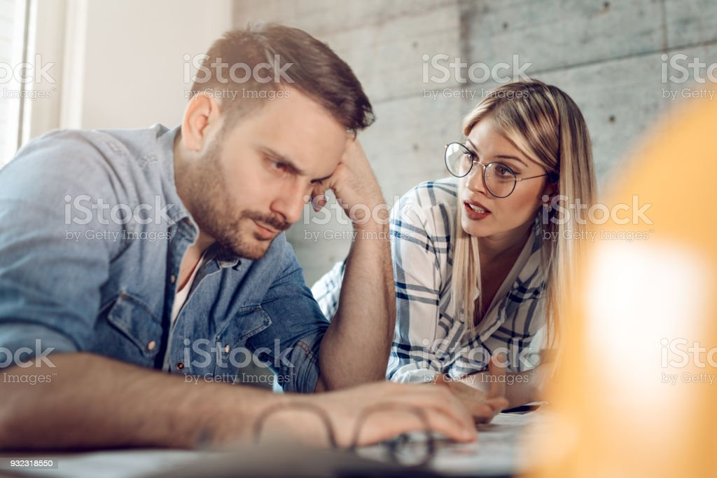 Carefully Considering All Options stock photo