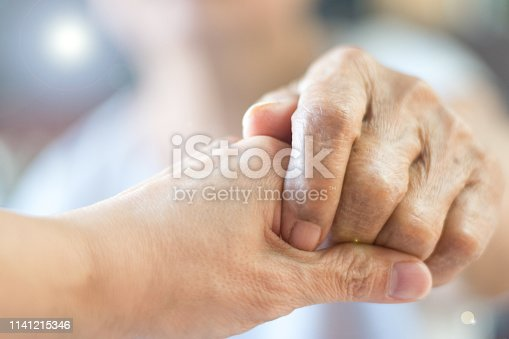 istock Caregiver, Specialized Assistance, carer hand holding elder hand woman in hospice care. Philanthropy kindness to disabled concept.Public Service Recognition Week 1141215346