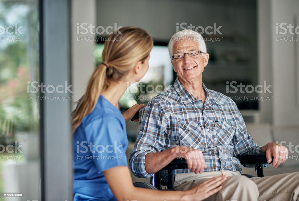 Caregivers make a difference everyday stock photo