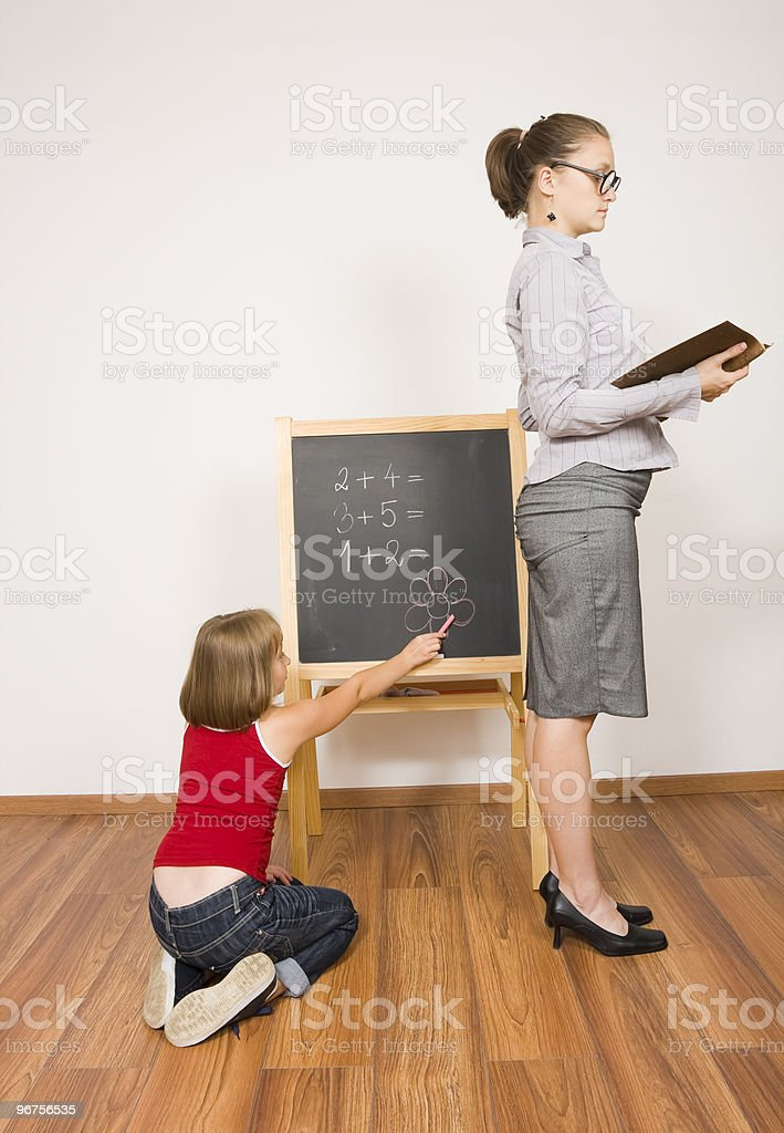 Careless student royalty-free stock photo