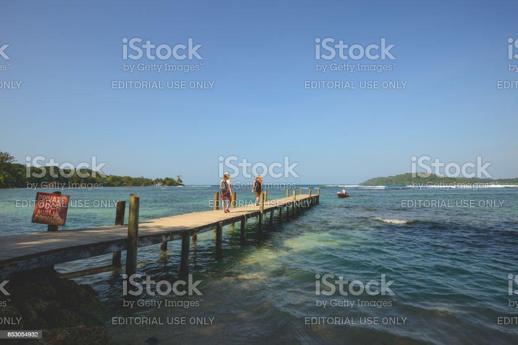 Carenero jetty stock photo