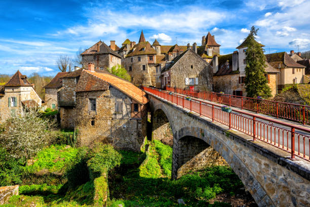 Carennac Old Town, Lot, France stock photo