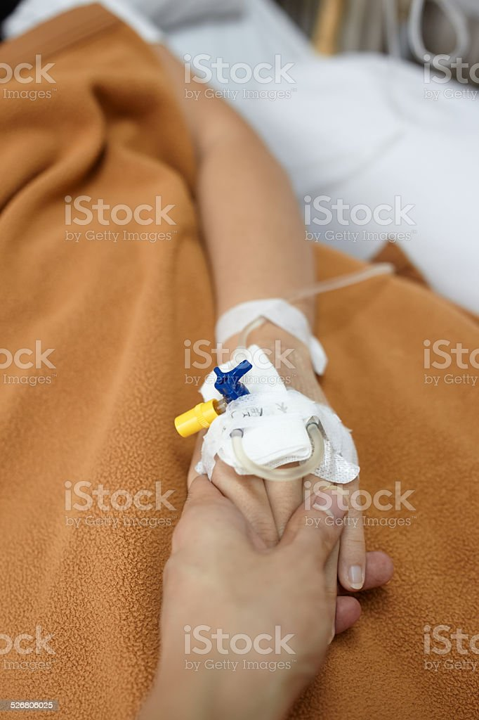 Caress for the sick stock photo
