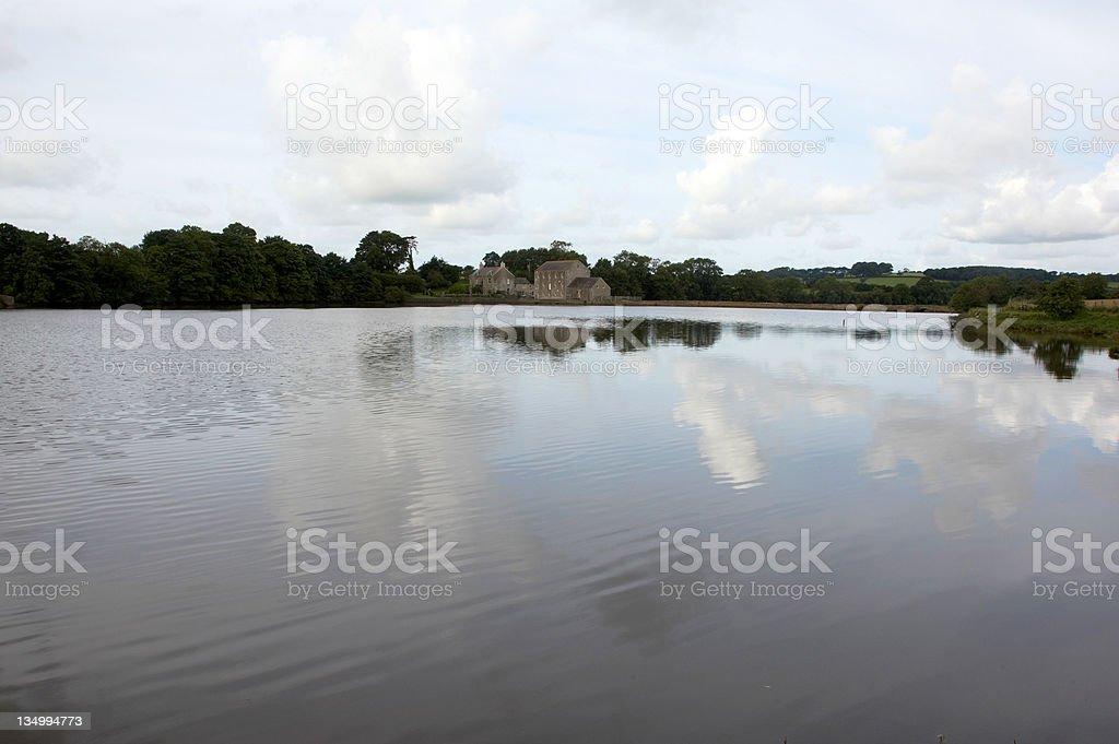 Carew Tidal Mill, Pembrokeshire morning sky royalty-free stock photo