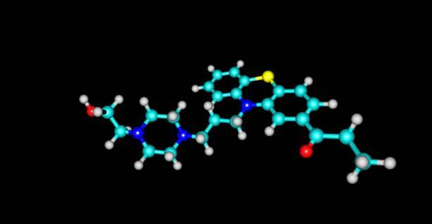 黑上分離卡芬嗪分子結構 - naegleria fowleri 個照片及圖片檔