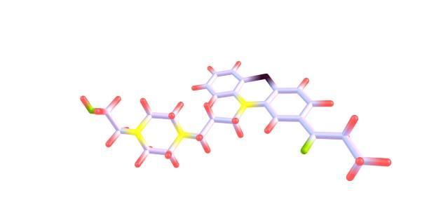 白色分離卡芬嗪分子結構 - naegleria fowleri 個照片及圖片檔