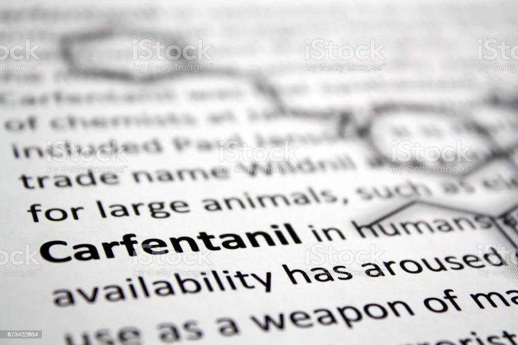 Carfentanil powerful opioid stock photo
