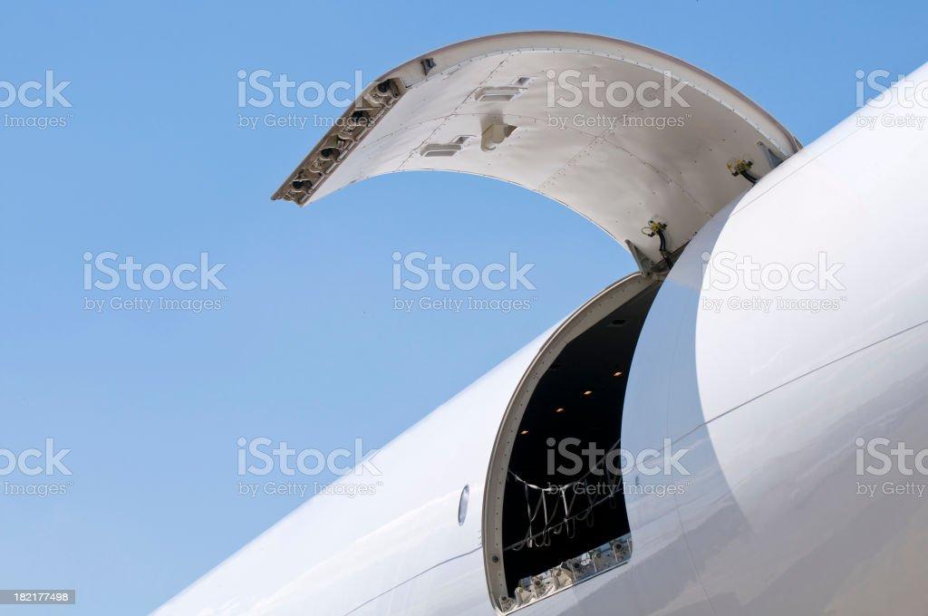 Cargo air transportation stock photo