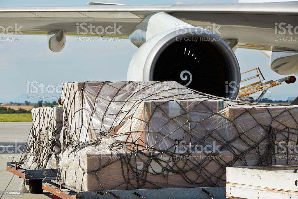 Cargo airplane stock photo