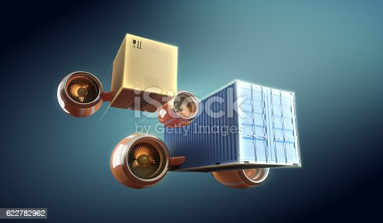 510998733 istock photo Cargo and container worldwide transportation and express local delivery. 622782962