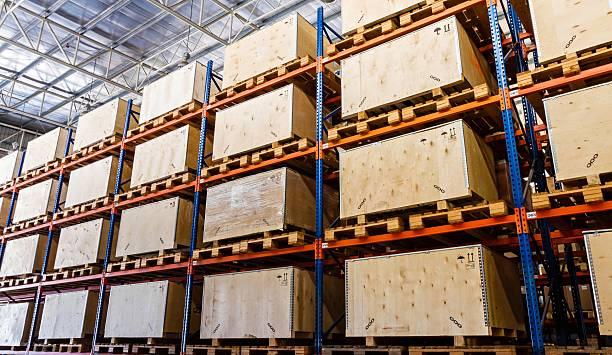Cargo and Warehouse stock photo