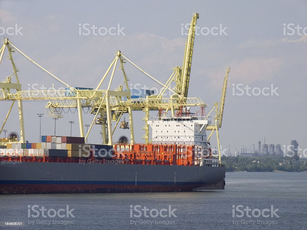 Cargo at Shipyard stock photo