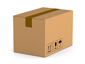 istock cargo box on white background. Isolated 3D illustration 910321788