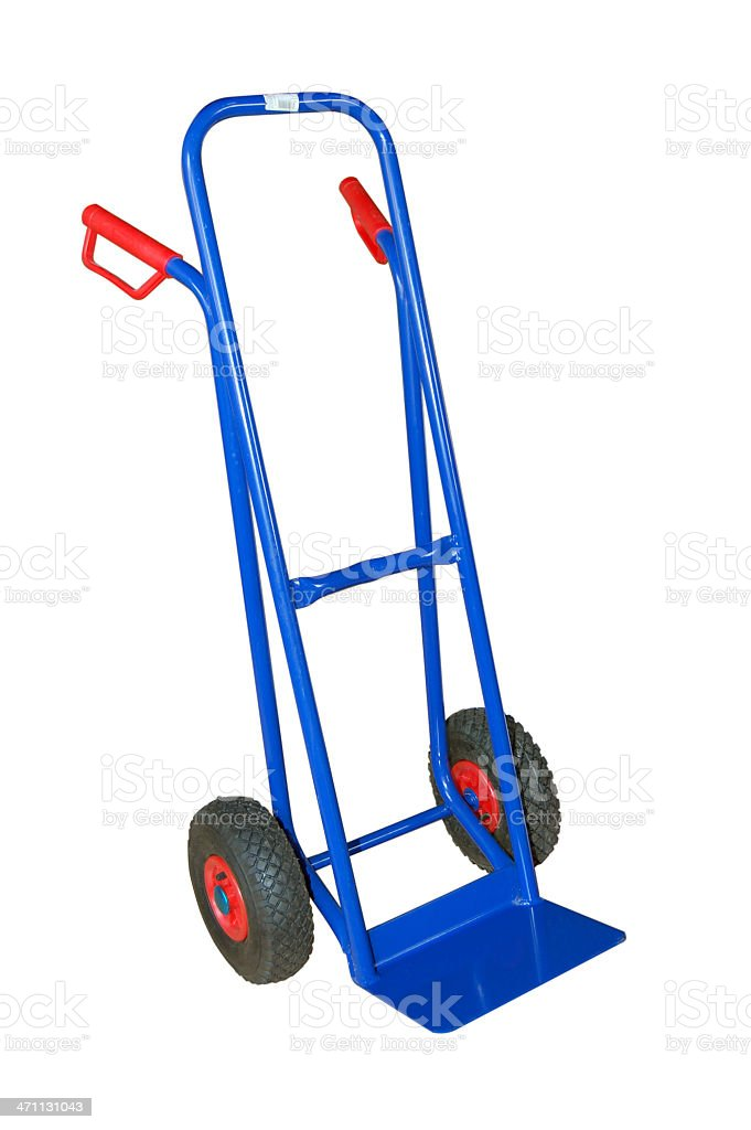 Cargo cart. Cargo cart, isolated on white. Business Finance and Industry Stock Photo