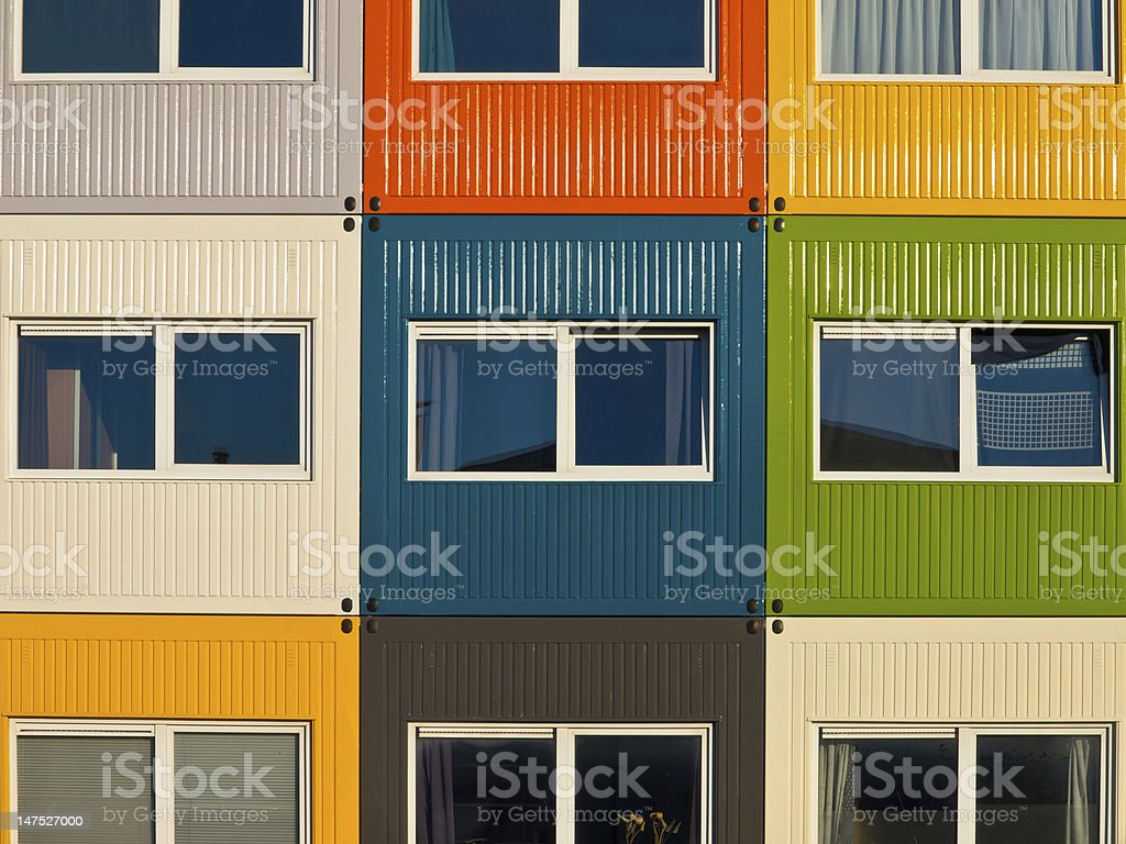 cargo container apartments royalty-free stock photo