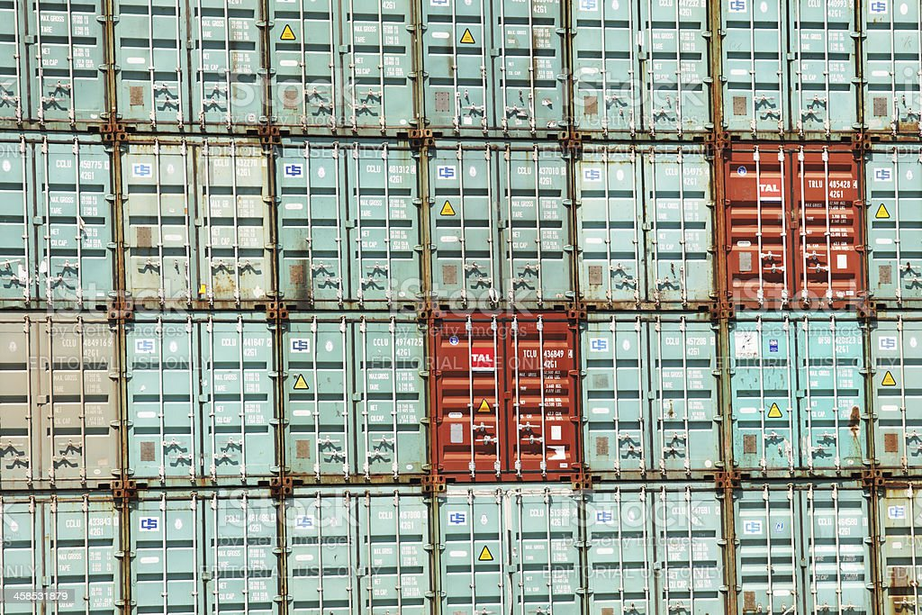 Cargo Container Export Import Freight Shipping stock photo