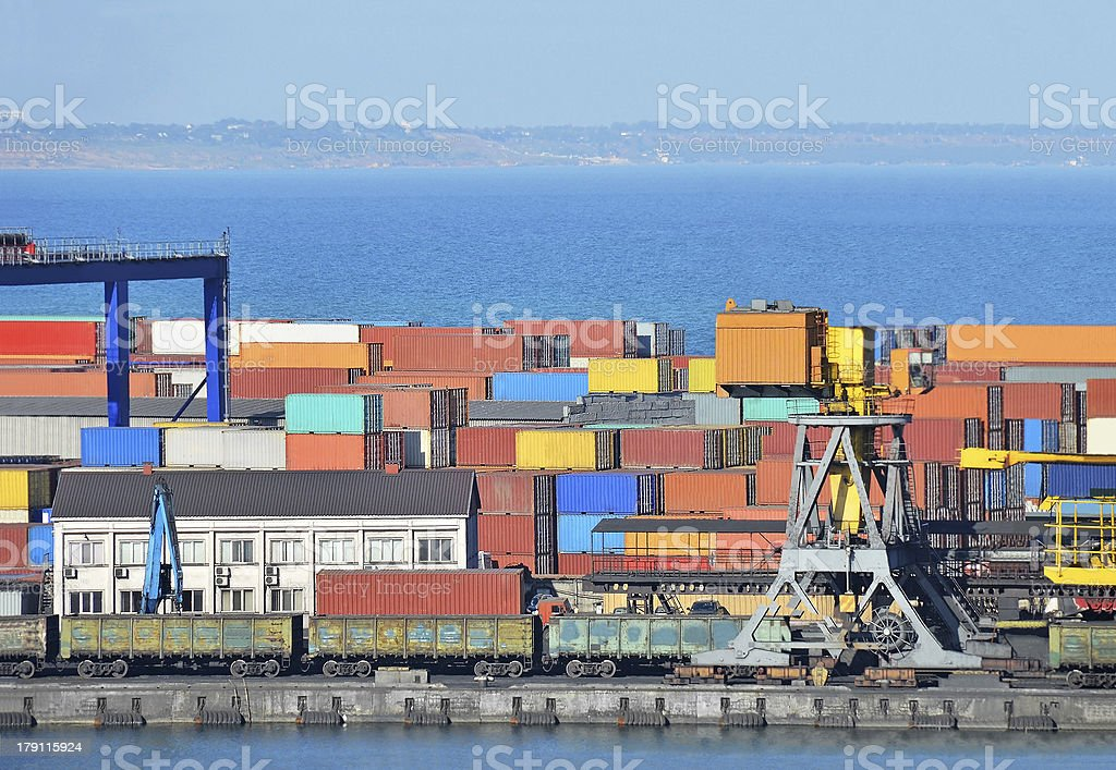 Cargo container royalty-free stock photo