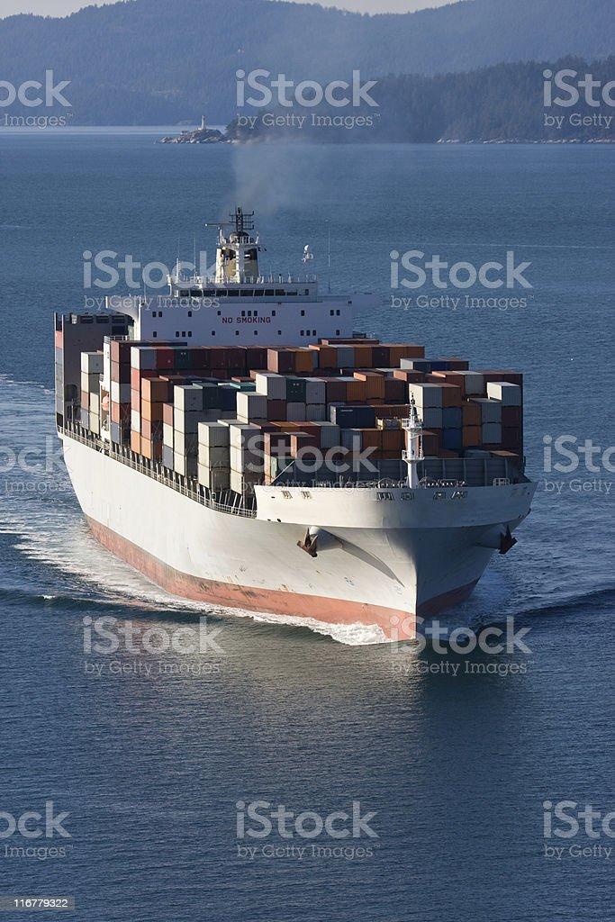 Cargo Container Ship Aerial View royalty-free stock photo