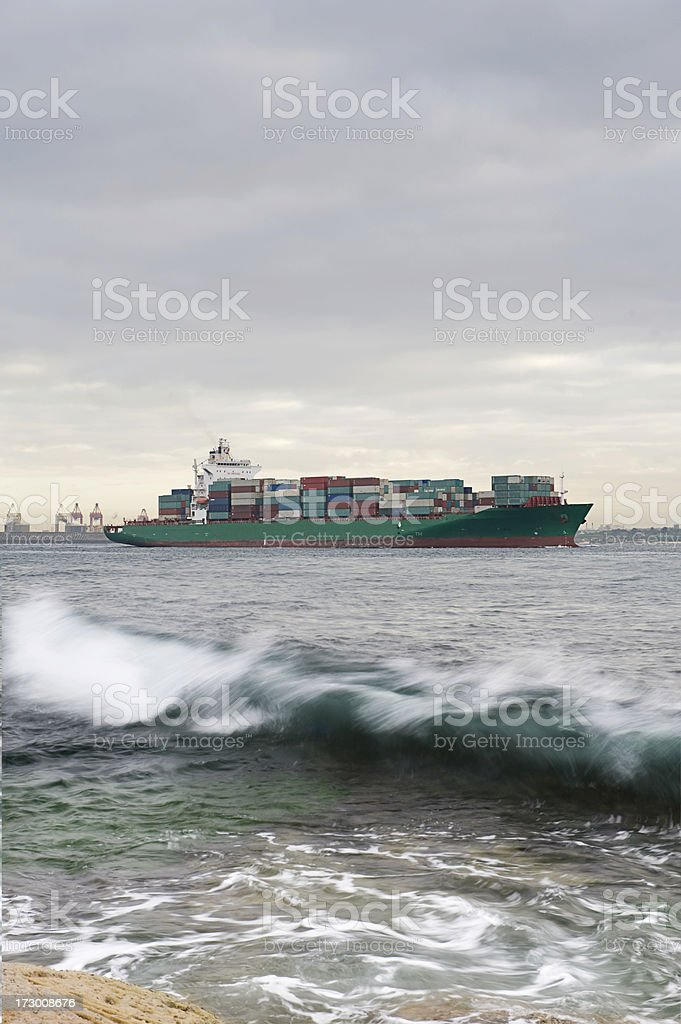 Cargo Container Ship royalty-free stock photo