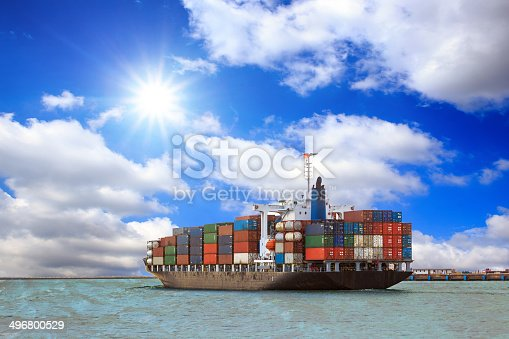 istock Cargo container ship 496800529