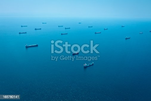 istock Cargo Container Ships Aerial View 165780141