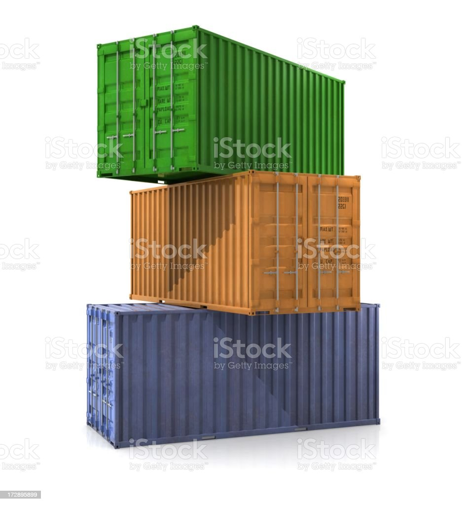 Cargo Container Stack royalty-free stock photo